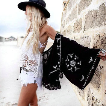 Stylish Embroidery Bohemia Cover Up [4918734660]