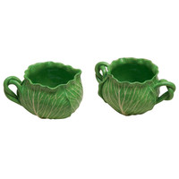 A Faience Lettuce Leaf Soft Paste Porcelain Set by Dodi Thayer
