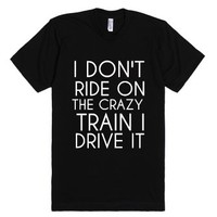 Crazy Train-Unisex Black T-Shirt
