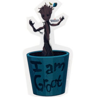 Marvel Guardians Of The Galaxy Baby Groot Sticker
