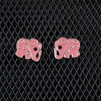 Elephant Enamel Earrings - Pink from Jewelry & Accessories at Lucky 21 Lucky 21