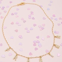 Star Crossed Lovers Crystal Necklace