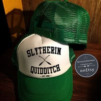 Slytherin Quidditch Hats Slytherin Hats Hogwarts Caps Harry Potter Hats Trucker Hat