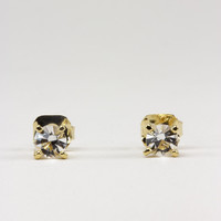 Small Clear Swarovski Crystal Stud Earrings