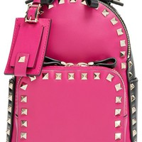Valentino 'Small Rockstud' Leather Backpack - Pink
