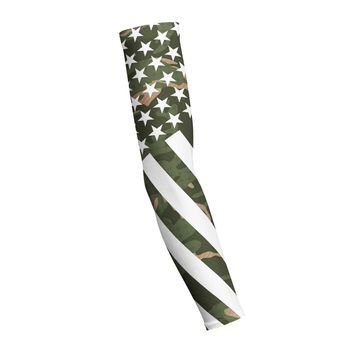 Combat Stars And Stripes Green Camo Shooting Arm Sleeve