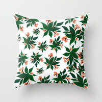 Pink Berry Floral Throw Pillow Cover - Home Decor Collection