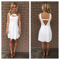 White Open Eye Softy Dress
