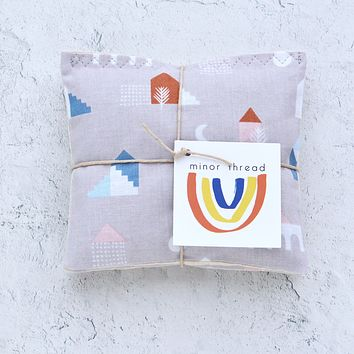 Houses in Taupe Organic Lavender Sachet Bundle