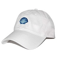 Scallop Shell Needlepoint Hat in White by Smathers & Branson