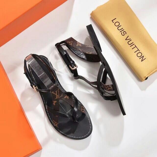 Image of 【Louis Vuitton】LV Flatbed sandals
