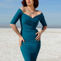 Monica Dress in Teal