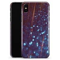 Dark Radient Orbs of Blue with Streaks - iPhone X Clipit Case