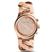 Runway Twist Rose Gold-Tone Watch | Michael Kors