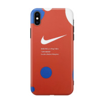 NIKE New fashion letter hook print couple protective cover phone case