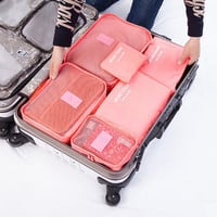 Luggage Organizer Bag Cube Pouch Travel Suitcase Storage Clothes Packing 6Pc Set