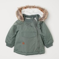 Padded Outdoor Jacket - Khaki green - Kids | H&M US
