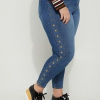 Plus Grommet High Rise Jegging in Regular