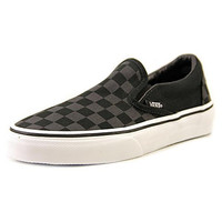 Vans Unisex Classic Slip-On (Checkerboard) Black/Black Skate Shoe 5.5 Men US / 7 Women US