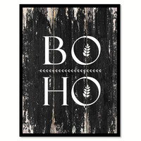 Boho 1 Motivational Quote Saying Canvas Print with Picture Frame Home Decor Wall Art