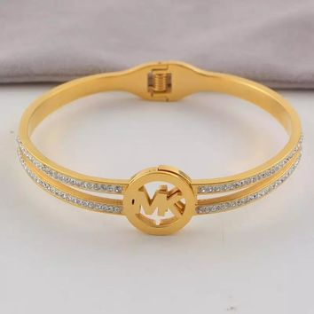 8DESS MK Michael Kors Women Fashion Plated Bracelet