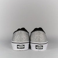 Vans Authentic Shoes - Glitter Silver at Arkive Clothing