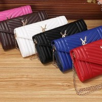 YSL 2017 new fashion leather Twill Shoulder Bag [110124924943]