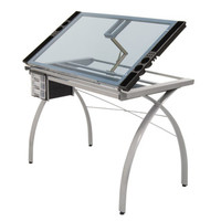 Studio Designs Silver/Blue Futura Craft Station | Overstock.com