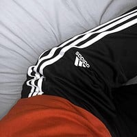 Adidas fashion white stripe Pants Trousers Sweatpants