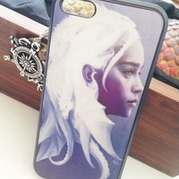 Game of Thrones Khaleesi Hard Case for iPhone 5c + Home Button Stickers iPhone5c