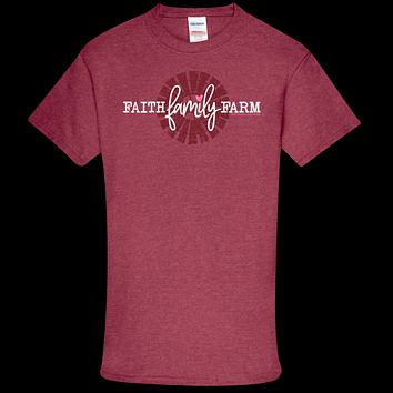 Southern Couture Soft Collection Faith Family Farm front print T-Shirt