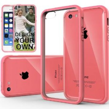 iPhone 5C Case, Caseology® [Fusion Series] Scratch-Resistant Clearback Cover [Pink] [Dual Bumper] for Apple iPhone 5C - Pink