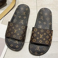 Louis Vuitton LV new fashion all-match trend flip-flop slippers Shoes