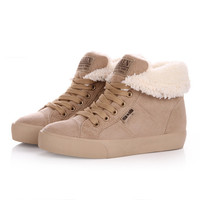 New Wedge Sneakers 2015 Spring Autumn Winter Velutinous Thermal Liner Snow Boots Height increased winter boots shoes woman