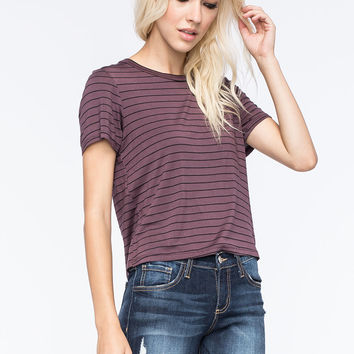 FULL TILT Striped Womens Fitted Tee | Knit Tops & Tees