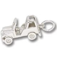 Jeep Charm In Sterling Silver