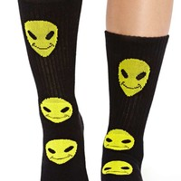 Happy Alien Socks