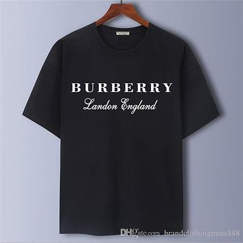 19ss c6/Burberry luxury men's designers T-shirt summer round neck embroidery short sleeve T-shirt brand men's and women's hiphop polo shirt