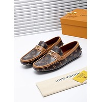 lv louis vuitton men fashion boots fashionable casual leather breathable sneakers running shoes 727