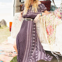 Spell And The Gypsy Gypsiana Pepper Maxi Skirt Peasant Top Set Extra Small XS Boho Off The Shoulder Midrift Top And Long Slit Skirt Bohemian Goddess