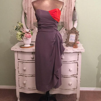 40s Fitted Crepe Dress, 1940s Couture Evening Dress, XXS/XS, 1940s Party Dress, Opera Dress, Special Occasion Dress, Elegant Vintage Dress