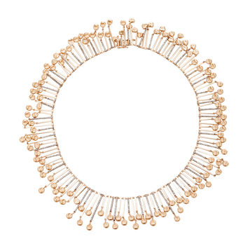 Meteorite Champagne Diamond Rose Gold Full Bar Necklace | Moda Operandi