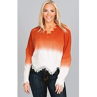 Ombre Fringe Sweater