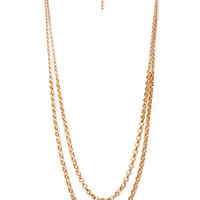 FOREVER 21 Exotic Element Chain Necklace Gold One