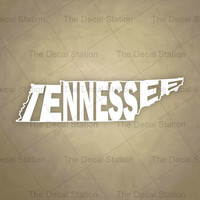 Tennessee Vinyl Decal Sticker for Car Truck Auto. Word Art . US State Pride.