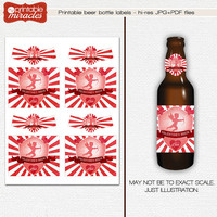 Instant download valentine beer bottle label, Printable beer labels, Pink Valentines Day gift for wife, gift for girlfriend, gift for adult