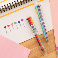 2016 New 6 Colors Ballpoint Pens Office and School Pen for Children Students and Office Ball pen Stationery Office Supplies