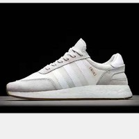 Adidas Retro Iniki Runner Boost sports shoes light gray-white soles-white line H-PSXY
