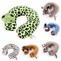 Cartoon U Shape Animal Neck Pillow Decorative Pillow Home Cushion Neck Pillow For Travelling Office Car Sleep