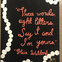 Gossip Girl Quote Canvas
